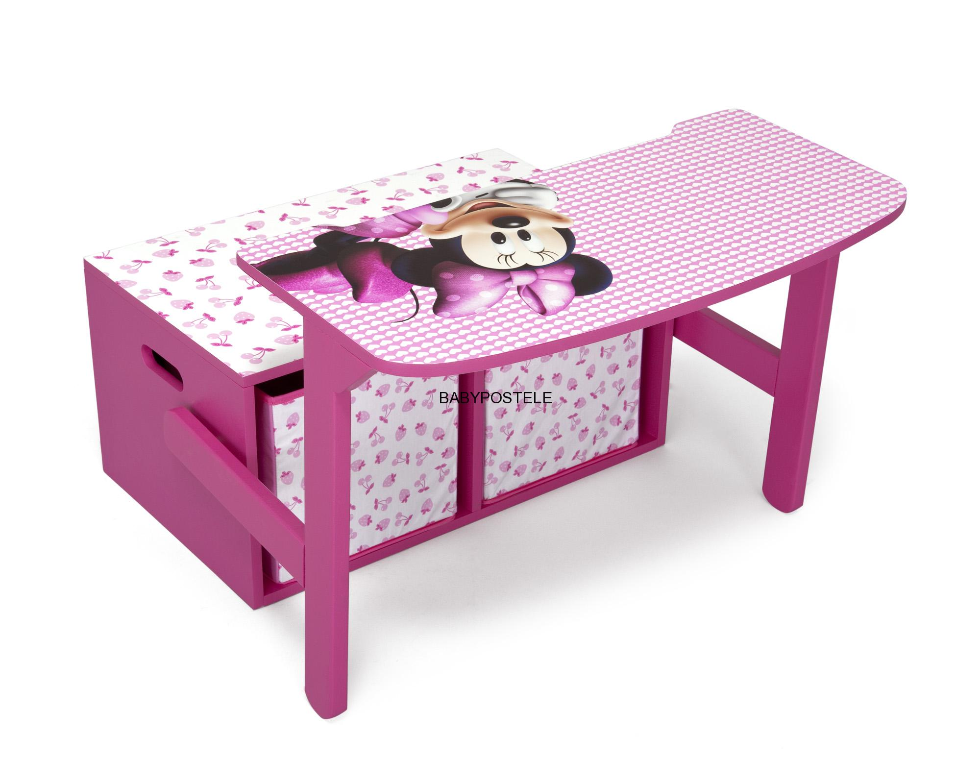 n bytek disney d tsk lavice s lo n m prostorem my ka minie baby postele. Black Bedroom Furniture Sets. Home Design Ideas